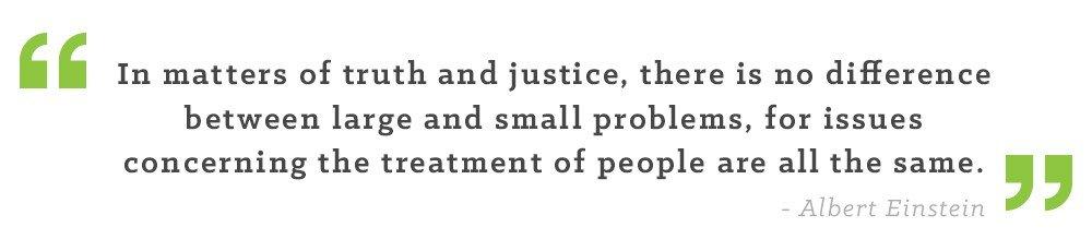 truth justice einstein quote